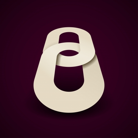 paper chain: 3d paper chain icon design template