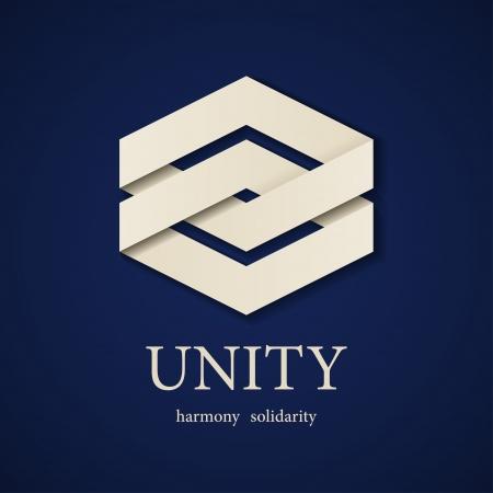 vector unity paper icon design template Vettoriali