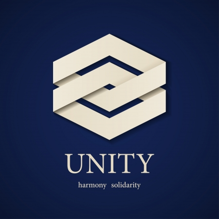 integrity: vector unity paper icon design template Illustration