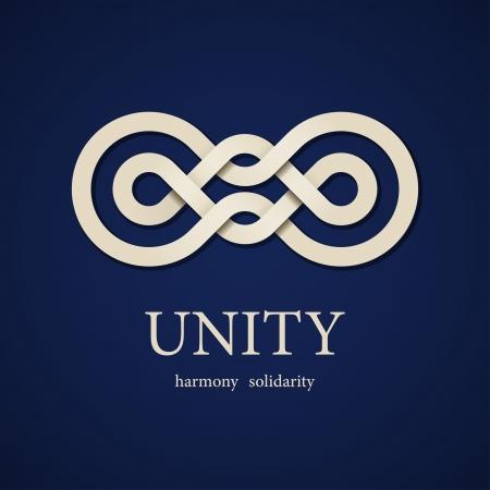 vector unity paper knot design template Vettoriali
