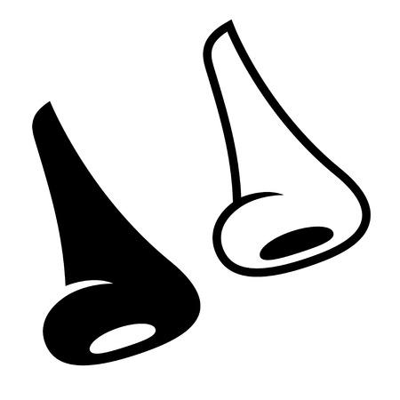 vector human nose symbols Vector