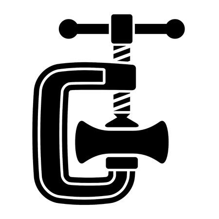 vector reducir vice blanco negro símbolo Ilustración de vector