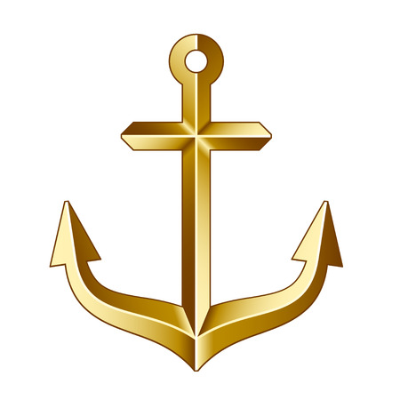vector golden anchor Vector