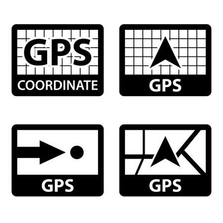 coordinates: vector gps navigation coordinates symbols