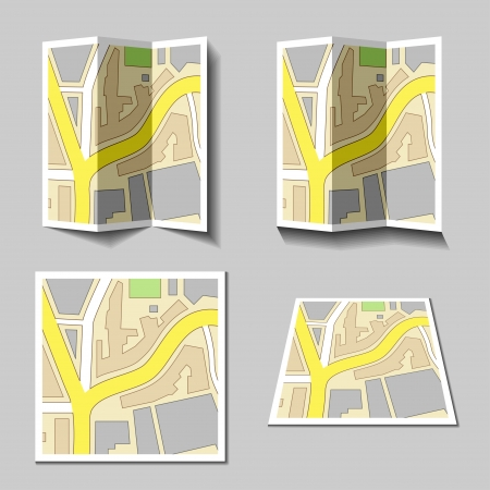 vector city navigation map icons Vector