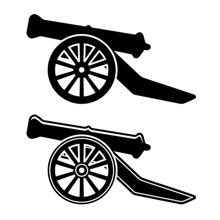 cannon: vector ancient cannon symbol Illustration