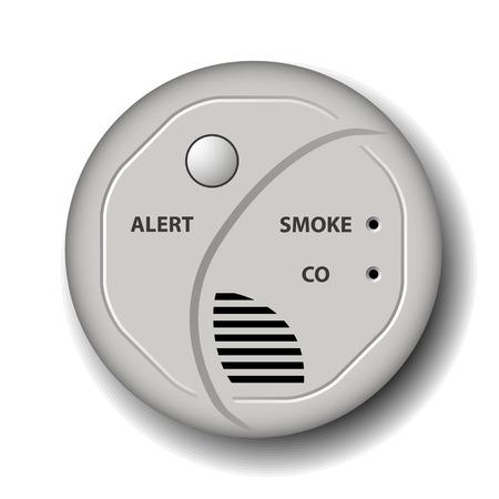 carbone: alarme de d�tecteur de monoxyde feu vecteur fum�e de carbone