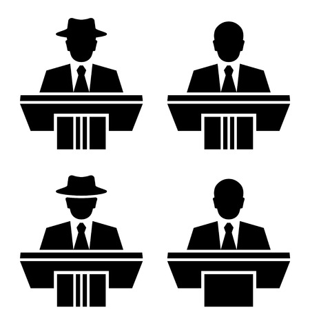 speaker icon: vector orator speaker black symbols