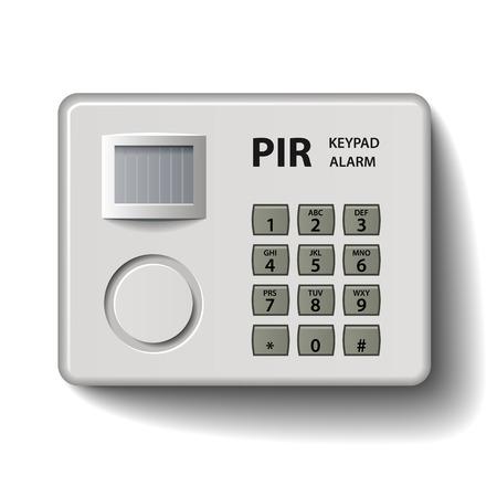 keypad: vector motion detector keypad infrared alarm Illustration