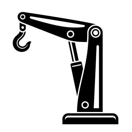 truck crane: vector hydraulic hand crane symbol