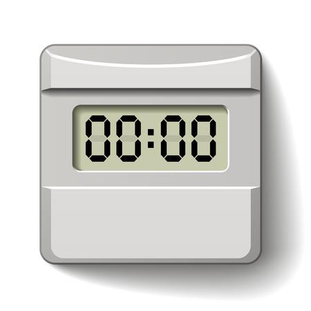 vector white plastic LCD counter