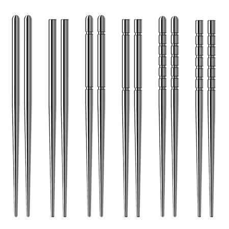 chop stick: vector chrome chopsticks