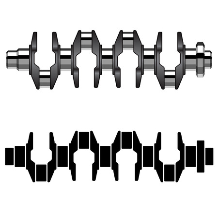 crankshaft: vector steel motor crankshaft
