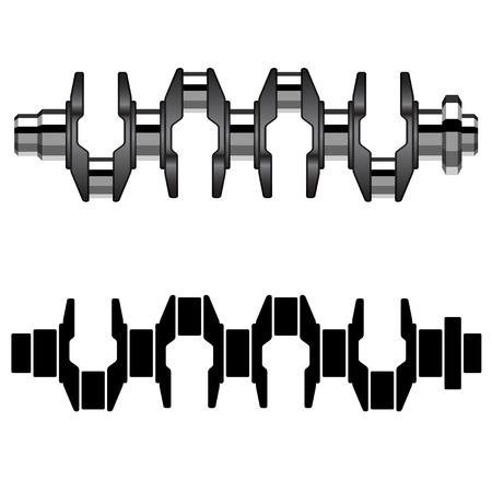 shaft: vector steel motor crankshaft