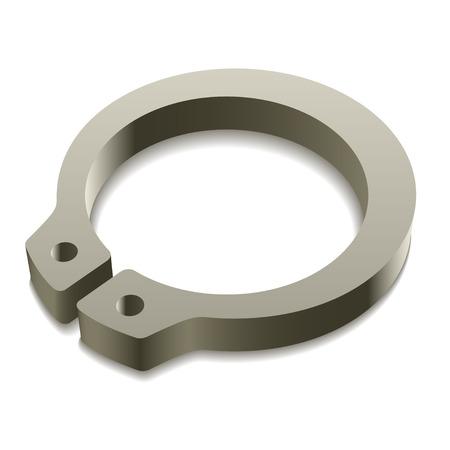 snap: vector retaining snap ring circlip icon