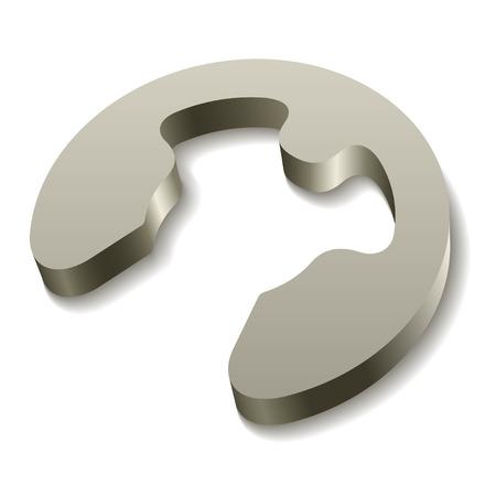 dismounted: vector retaining snap ring circlip icon