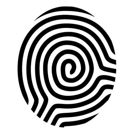 指紋の図面シンボルをベクトルします。  イラスト・ベクター素材