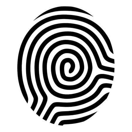 vector drawing fingerprint symbol Illustration
