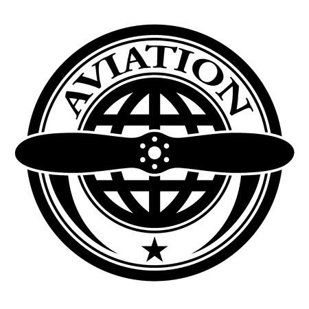 vector aviation stamp Illustration