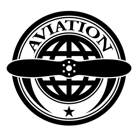 propeller: vector aviation stamp Illustration