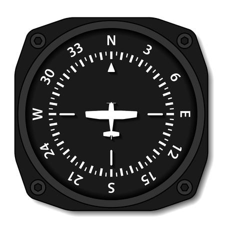 Tours de compas de l'avion vecteur de l'aviation Banque d'images - 26579034