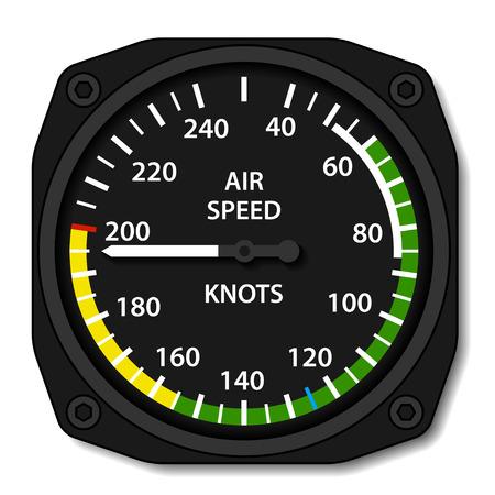 벡터 항공 항공기의 대기 속도 표시