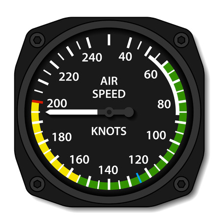 instrument panel: vector aviation aircraft airspeed indicator Illustration