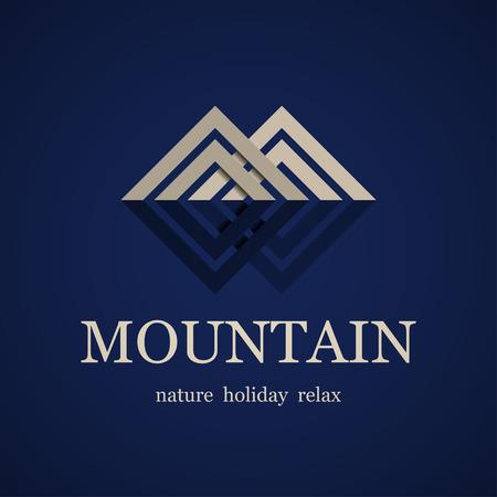 vector mountain symbol design template
