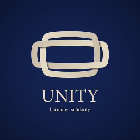 Vector Unity Knot Black White Symbol Royalty Free Cliparts Vectors
