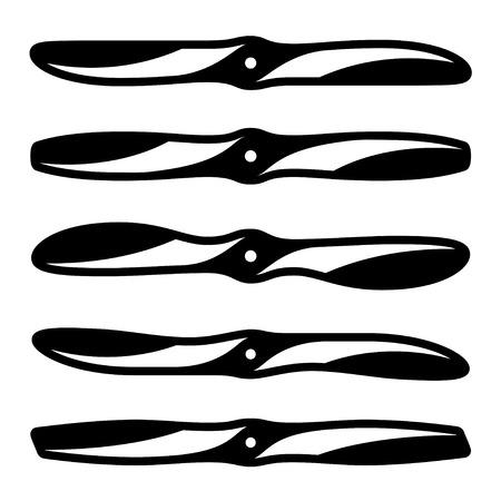 propeller: vector airplane propeller symbols