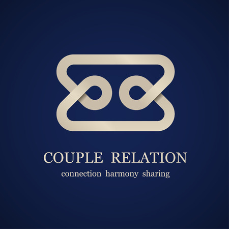 vector abstract couple relation symbol Stock Vector - 27449695