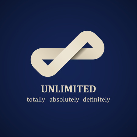 vector abstract unlimited symbol design template Vector