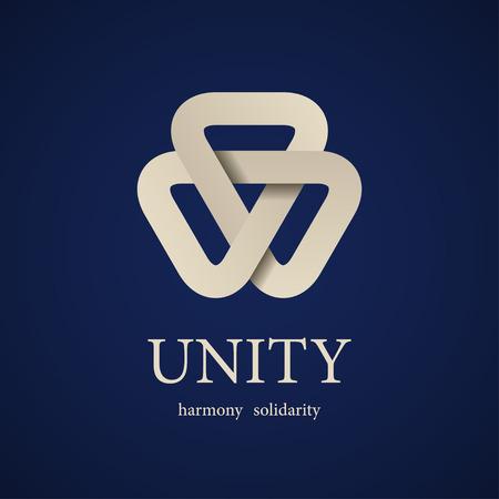 integridad: unidad vector tri�ngulo de papel plantilla de dise�o de iconos
