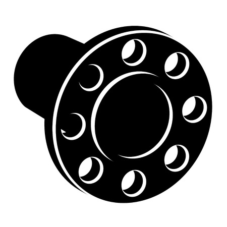 flange: black pipe flange silhouette Illustration