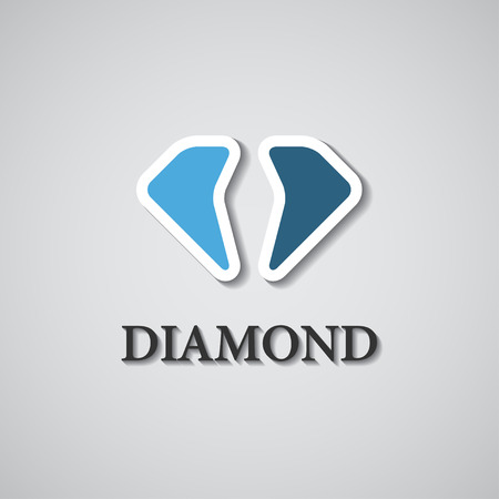 abstract stylized diamond icon Vector