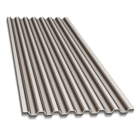 roof construction: corrugated roofing sheet