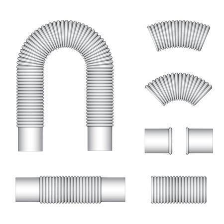plumbing corrugated flexible tubes Stock Vector - 28108984