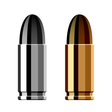 武器銃の弾丸カートリッジ  イラスト・ベクター素材