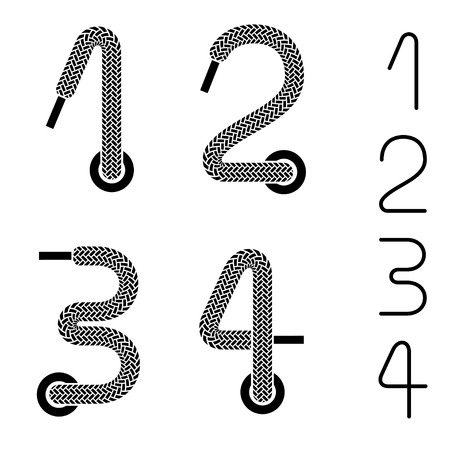 thread count: shoe lace numbers 1 2 3 4
