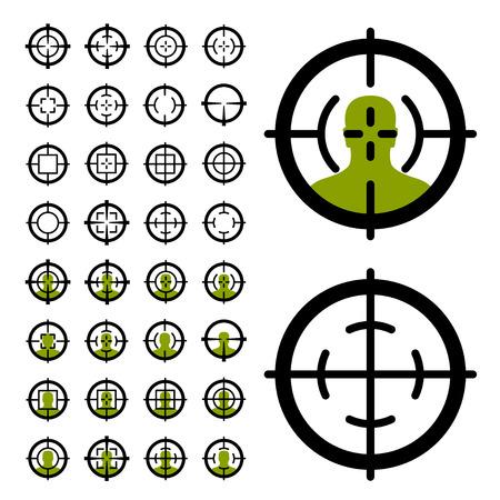 Gun simboli mirino a vista Archivio Fotografico - 30023414