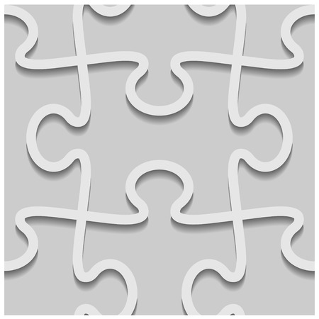 3d paper seamless puzzle pattern Illustration