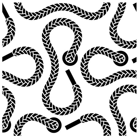 seamless monochrome shoelace pattern Vector