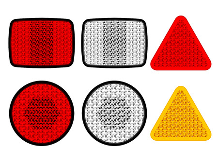 reflectors: safety reflectors red white orange