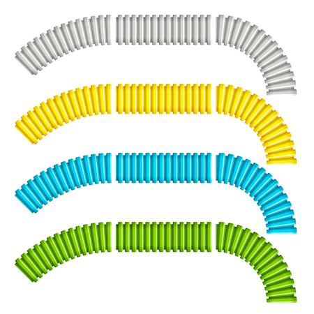 electrical wire: colored corrugated flexible tubes