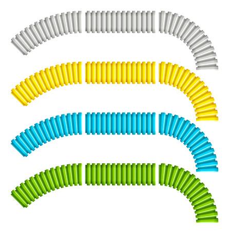 flexible: colored corrugated flexible tubes