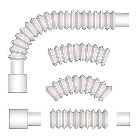 siphon: plumbing corrugated flexible tubes