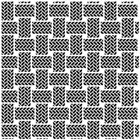 shoelace: black white seamless textile pattern Illustration