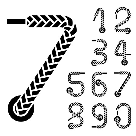 thread count: black shoe lace numbers