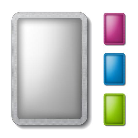 sachet: sachet packaging silver color