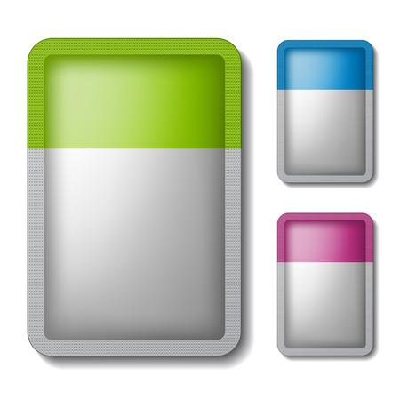 실버 색상 포장 주머니 스톡 콘텐츠 - 30023530